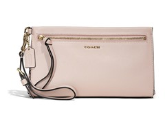 Coach Madison Two Tone Python Large Wristlet -Light Gold/Blush
