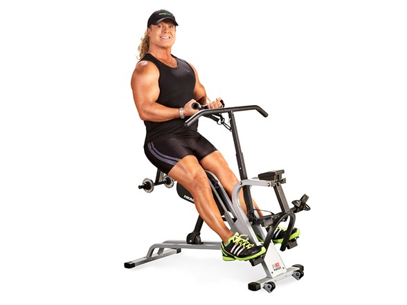 Pros The HealthRider Tony Little Hybrid Trainer is a small and affordable machine that gets straight to the point for those ready to get fit. This machine comes with 14 different resistance levels, 14 workout apps and an effective workout for the arms and upper body.