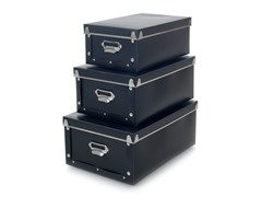 Retro Storage Boxes - Set of 3 - Collapsible