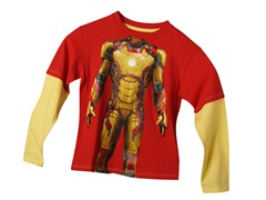 Ironman 3 Long Sleeve Tee - Red (4-7)
