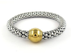 Stainless Steel Stretch Bracelet w/ Plating