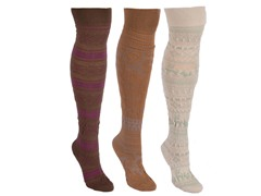 MUK LUKS® 3-Pair Boot Height Sock Pack