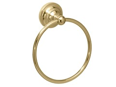 Tiara Towel Ring, Brass