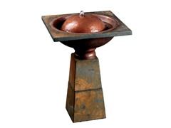 Crescent Fountain, Slate Finish