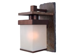 Rockledge Small Wall Lantern, Natural Slate
