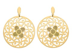 18kt Gold Plated Sunflower Earrings