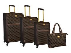 Jacquard 4-Piece Luggage Set