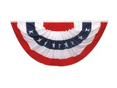 3'x6' Full Patriotic Fan/Bunting