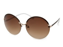 Women's Sunglasses, Gold/Brown Gradient