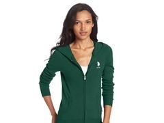 Long Sleeve Zip Front Hoodie, Pine Scent