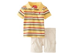 Yellow Striped 2-Piece Short Set (3-9M)