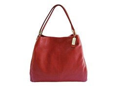 Madison Phoebe Leather Shoulder Bag, Red