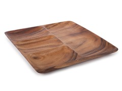Acacia 4 Part Square Entertainment Platter