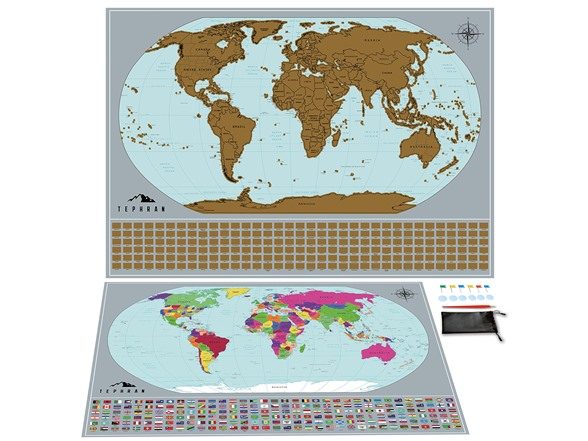Tephran Scratch Off Map Of The World Bundle