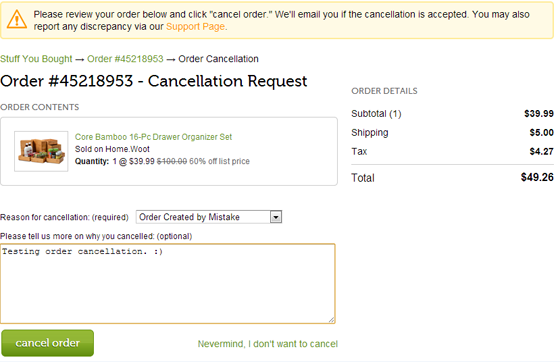 Now Do Order It Woot Cancellation - If Can You Must