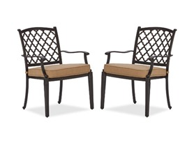 Cast Aluminum Dining Arm Chair, Set of 2