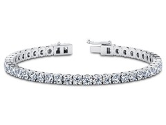 9CTTW Round Cut Simulated Diamond Tennis Bracelet