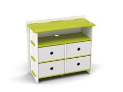 Lime & White 36-Inch Dresser