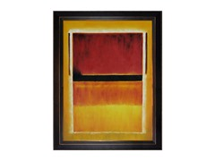 Rothko - Untitled (Vlt, Blk, Org, Yllw on Wht & Red)