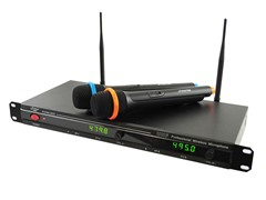 Pro UHF Wireless Microphone System w/ 2 Mics