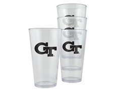 Georgia Tech Plastic Pint Glasses 4-Pk
