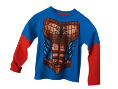 Spiderman Long Sleeve Tee - Blue (4-7)