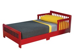 Slatted Toddler Bed- Red