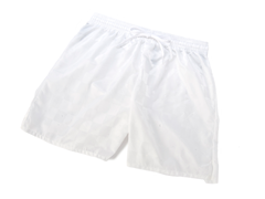 Youth Solid White Shorts (XXS)