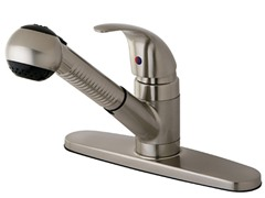 Kitchen Faucet with Lever Handle, Nickel