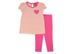 Orange & Pink 2-Pc Legging Set (12M-4T)