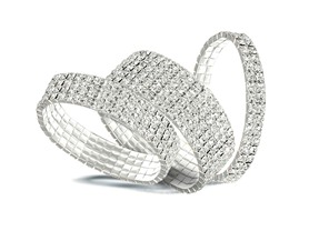 Silver Swarovski Elements Stretch Bracelets