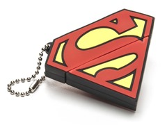 4GB USB Flash Drive Keychain - Superman