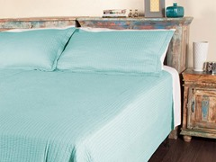 Metro Stripe Quilt Set - Blue - 2 Sizes