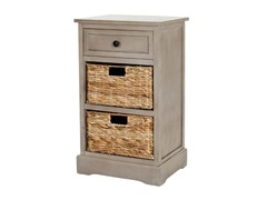 Carrie Storage Side Table - Grey