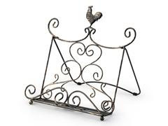Metal Rustic Cookbook Stand