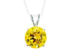 SS Yellow 3.5cttw Pendant Necklace