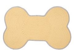 Yellow Shadow Dog Bone Color Edge Rug - 3 Sizes