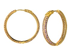 18k Plated 35mm Hoops
