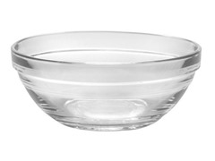 Duralex Set of 6- 4.75 Inch Lys Stack Bowl Clear