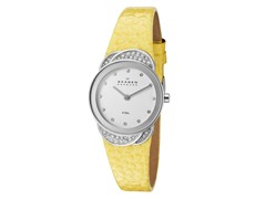 Women's White / Yellow Leather Watch