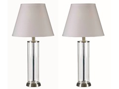 Clear 2-Pack Table Lamp