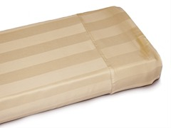 400TC Taupe Damask Stripe Sheets-3 Sizes