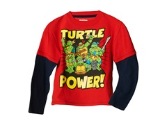 TMNT Long Sleeve Tee - Red (2T-4T)