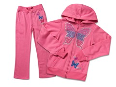 Girls Light Pink Fleece Set