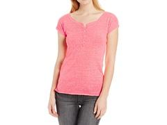Unionbay Juniors Strmy Jsy Caryn Hnly Shirt, Flamingo