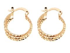 18k Plated Triple Layer Hoop Earrings