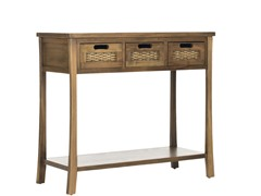 Autumn 3 Drawer Console - Brown