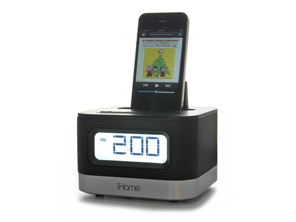 ihome stereo alarm clock for ipod iphone. Black Bedroom Furniture Sets. Home Design Ideas