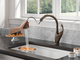 Delta Pull-Down Kitchen Faucet Featuring Touch2O