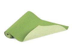 """Spots & Stripes Green  13x72"""" Runner-Green"""